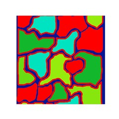 Colorful Abstract Design Small Satin Scarf (square) by Valentinaart