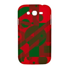 Red and green abstract design Samsung Galaxy Grand DUOS I9082 Hardshell Case by Valentinaart