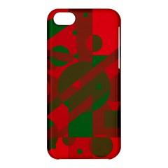 Red And Green Abstract Design Apple Iphone 5c Hardshell Case by Valentinaart