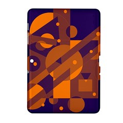 Blue And Orange Abstract Design Samsung Galaxy Tab 2 (10 1 ) P5100 Hardshell Case  by Valentinaart