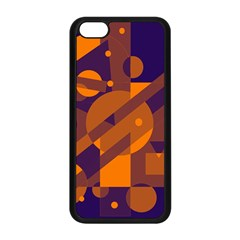 Blue And Orange Abstract Design Apple Iphone 5c Seamless Case (black) by Valentinaart