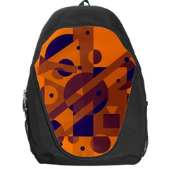 Orange And Blue Abstract Design Backpack Bag by Valentinaart