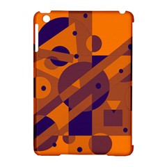 Orange And Blue Abstract Design Apple Ipad Mini Hardshell Case (compatible With Smart Cover) by Valentinaart