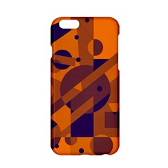 Orange And Blue Abstract Design Apple Iphone 6/6s Hardshell Case