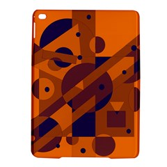 Orange And Blue Abstract Design Ipad Air 2 Hardshell Cases by Valentinaart