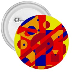 Colorful Abstraction 3  Buttons by Valentinaart