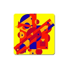 Colorful Abstraction Square Magnet by Valentinaart