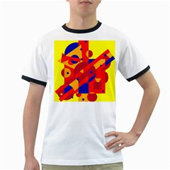 Colorful abstraction Ringer T-Shirts by Valentinaart