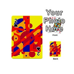 Colorful abstraction Playing Cards 54 (Mini)  by Valentinaart