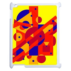 Colorful Abstraction Apple Ipad 2 Case (white) by Valentinaart
