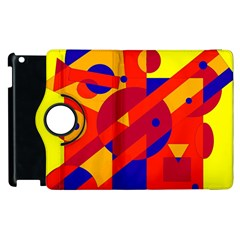 Colorful Abstraction Apple Ipad 2 Flip 360 Case by Valentinaart