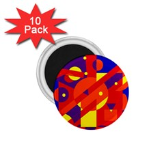 Blue And Orange Abstract Design 1 75  Magnets (10 Pack)  by Valentinaart