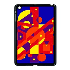 Blue And Orange Abstract Design Apple Ipad Mini Case (black) by Valentinaart