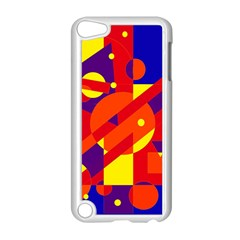 Blue And Orange Abstract Design Apple Ipod Touch 5 Case (white) by Valentinaart