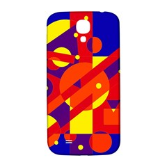 Blue And Orange Abstract Design Samsung Galaxy S4 I9500/i9505  Hardshell Back Case by Valentinaart