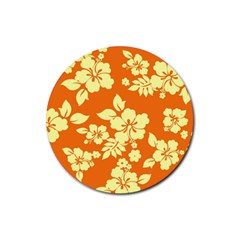 Sunny Hawaiian Rubber Round Coaster (4 pack)  by AlohaStore