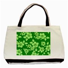 Green Hawaiian Basic Tote Bag by AlohaStore