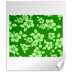 Green Hawaiian Canvas 20  X 24   by AlohaStore