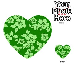Green Hawaiian Multi Purpose Cards (heart)