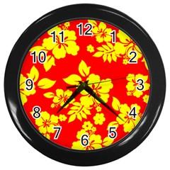 Hawaiian Sunshine Wall Clocks (black) by AlohaStore