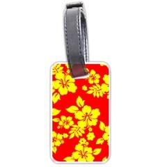 Hawaiian Sunshine Luggage Tags (Two Sides) by AlohaStore