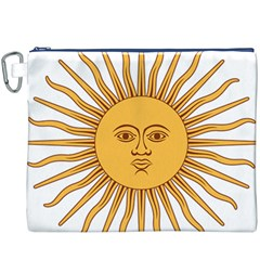 Argentina Sun of May  Canvas Cosmetic Bag (XXXL) by abbeyz71