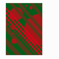 Red And Green Abstract Design Large Garden Flag (two Sides) by Valentinaart