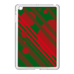 Red And Green Abstract Design Apple Ipad Mini Case (white) by Valentinaart