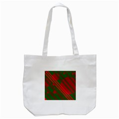 Red And Green Abstract Design Tote Bag (white) by Valentinaart