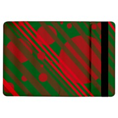 Red And Green Abstract Design Ipad Air 2 Flip by Valentinaart