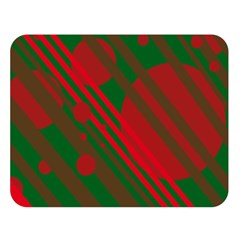 Red And Green Abstract Design Double Sided Flano Blanket (large)  by Valentinaart
