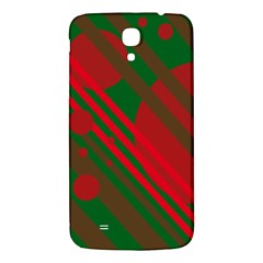 Red And Green Abstract Design Samsung Galaxy Mega I9200 Hardshell Back Case by Valentinaart