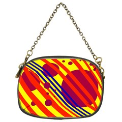 Hot Circles And Lines Chain Purses (one Side)  by Valentinaart