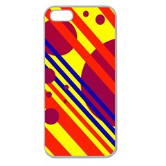 Hot Circles And Lines Apple Seamless Iphone 5 Case (clear) by Valentinaart