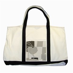 Gray Hart Two Tone Tote Bag by Valentinaart