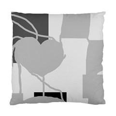 Gray Hart Standard Cushion Case (one Side) by Valentinaart
