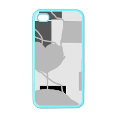 Gray Hart Apple Iphone 4 Case (color) by Valentinaart