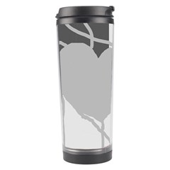 Gray Hart Travel Tumbler by Valentinaart