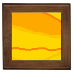 Yellow Decorative Design Framed Tiles by Valentinaart
