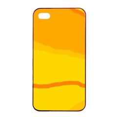 Yellow Decorative Design Apple Iphone 4/4s Seamless Case (black) by Valentinaart