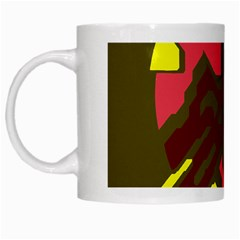 Abstract design White Mugs by Valentinaart