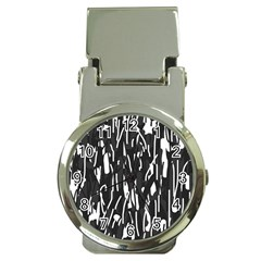 Black And White Elegant Pattern Money Clip Watches by Valentinaart