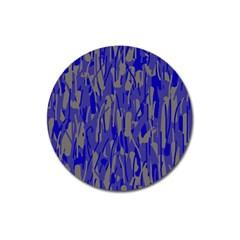 Plue Decorative Pattern  Magnet 3  (round) by Valentinaart