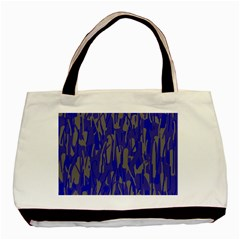 Plue Decorative Pattern  Basic Tote Bag by Valentinaart