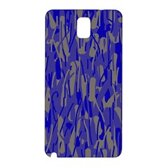 Plue Decorative Pattern  Samsung Galaxy Note 3 N9005 Hardshell Back Case by Valentinaart