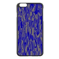 Plue Decorative Pattern  Apple Iphone 6 Plus/6s Plus Black Enamel Case by Valentinaart