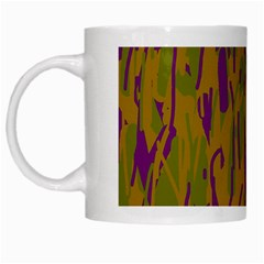 Decorative Pattern  White Mugs by Valentinaart