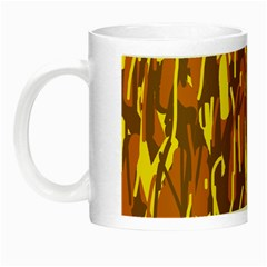 Yellow Pattern Night Luminous Mugs by Valentinaart