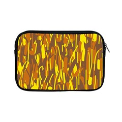 Yellow Pattern Apple Ipad Mini Zipper Cases by Valentinaart