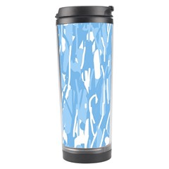 Blue Pattern Travel Tumbler by Valentinaart